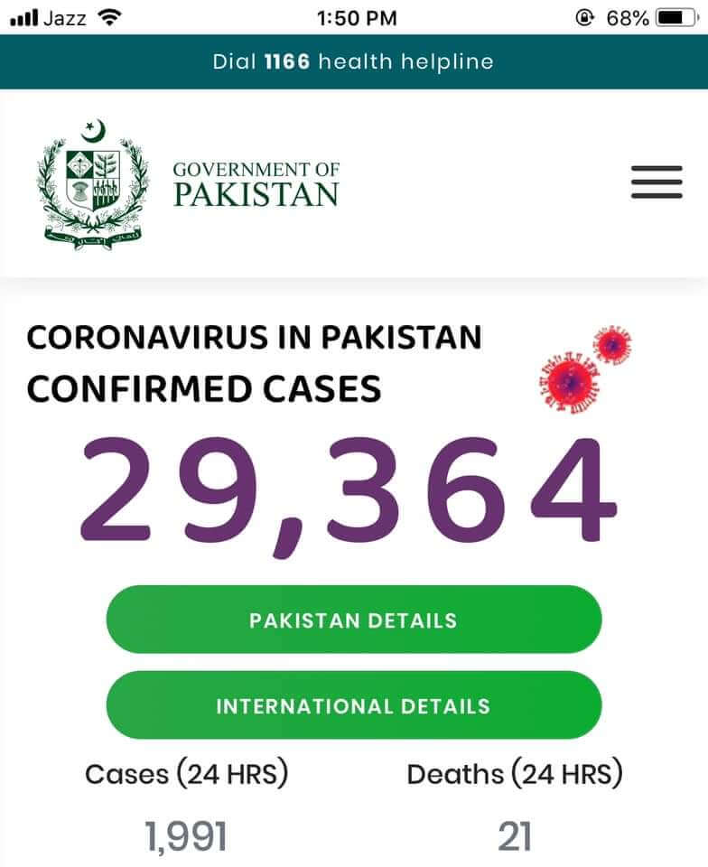 Pakistans increasing COVID 19 cases