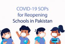 COVID-19 SOPs for Reopening Schools in Pakistan
